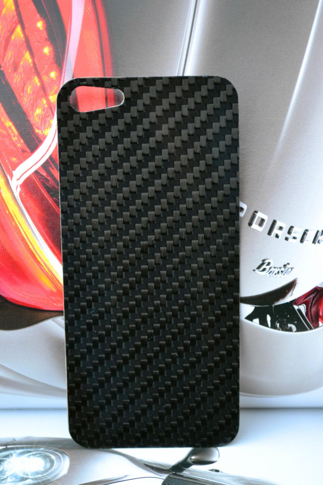 Бампер для IPHONE 5 задней пластины реальном УГЛЕРОДНОГО волокна