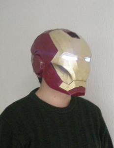 Le engraved music off Iron Man ironman helmet mask