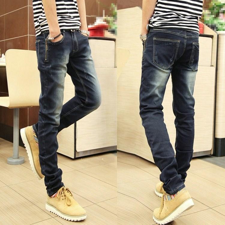 Ии Beiyao 2015 мужской одежды в осенний и зимний плюс бархат джинсы slim Корейский досуг брюки ноги штаны мужчины мужчины прилив