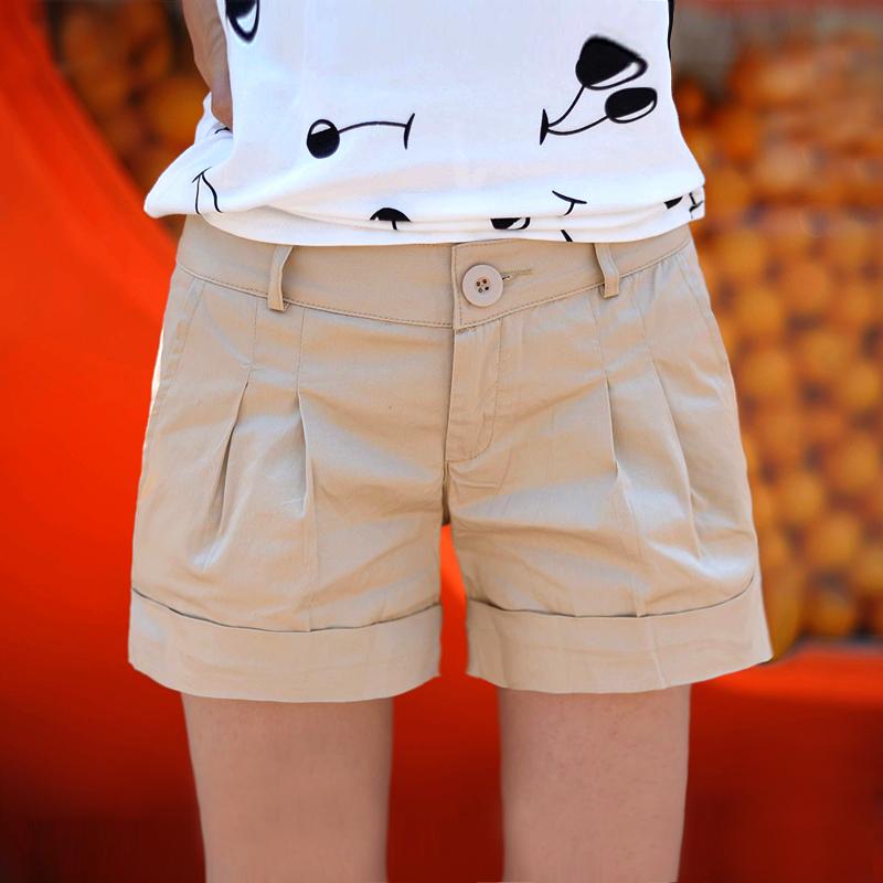 Лето 2015 новый корейской версии тонкий похудения хлопка конфеты цветные летние дамы плюс размер шорты горячие брюки