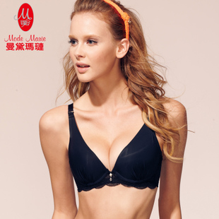 Mandai Ma Lian glossy side closed gather adjustable bra ladies underwear R864028
