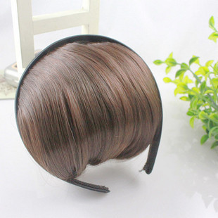 Authentic Japanese Korean credibility Qi oblique bangs hair hoop headband to wear fake bangs piece ultra simple bangs