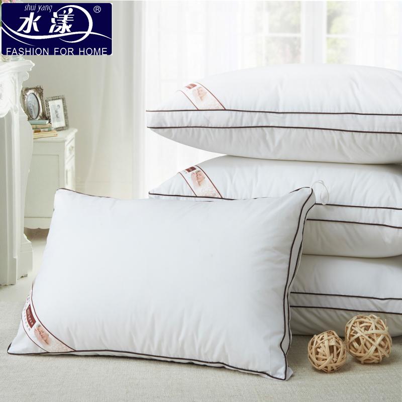 水漾 水洗羽絲絨枕頭枕芯一對拍2正品五星級酒店軟枕頭正品夏枕