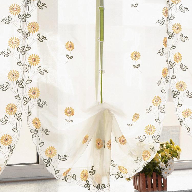 Воздушный шар тень сад вышивка Дейзи закончила свежий сделал на заказ шторы гостиной спальни балкон лифта Римская тень пакета почты