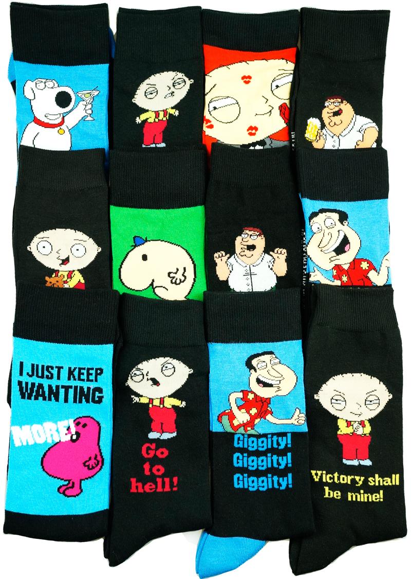 Печать Гриффины Family Guy носки сирот носки чулки, которые Harajuku скейтборд носки для мужчин и женщин в чулках