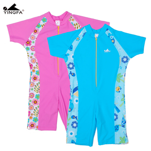 Climax genuine new children s sun protection clothing piece swimsuit Male Female Older children YF601 YF3113