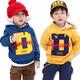 | Цена 397  руб  | Специальный D 2014 осень и зиму одежду новый корейский алфавит Мальчики флис с капюшоном свитер пальто Дети мас-0718