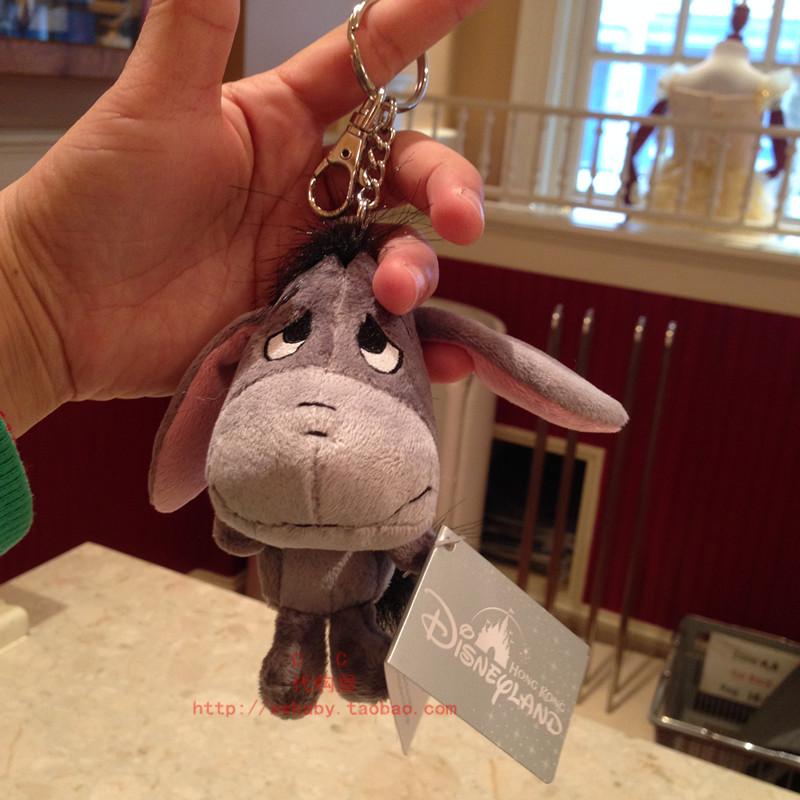 香港迪士尼乐园 伊尔驴小毛驴毛绒钥匙扣包挂车挂挂饰
