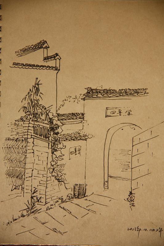 Зарисовка пейзажной домашней работы имеет Неравномерный рисунок линии спец. предложение 20 полных бесплатная доставка по китаю A4