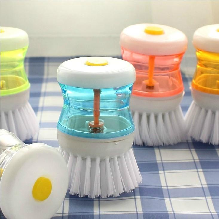 爱生活创意厨房清洁用品 洗锅刷 杯刷 尼龙清洁刷 压液刷子