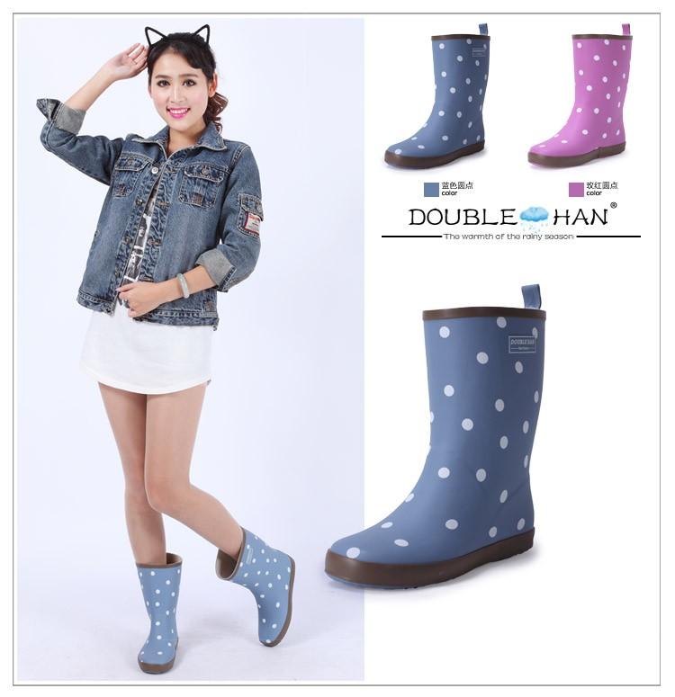 Двойной Хань аутентичных японских и корейских моды девушки свежие и цветочные трубку 2 в дождь загрузки калошу Сапоги резиновые
