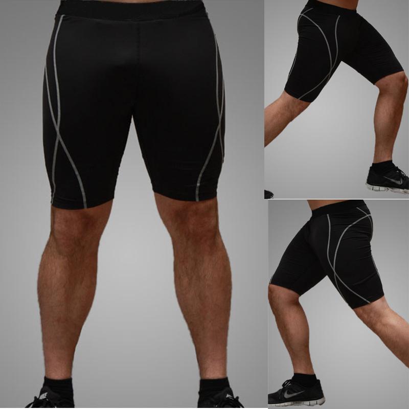Мужская пота скорость сухой подготовки фитнес штаны леггинсы спандекс работает шорты jianmeiku шорты Мужские брюки