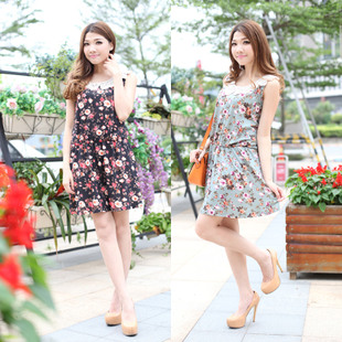 Daily Specials 2015 large size women fat mm fat sister was lanky waist dress Floral Dress