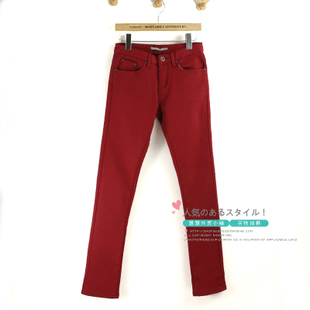 New winter pants Korean Slim was thin thick brushed boots pants waist casual trousers pencil pants feet