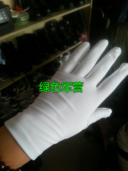Spring and summer tight high elastic etiquette Gloves Black and white jewelry photography dance caddie master of ceremonies wedding performance gloves man
