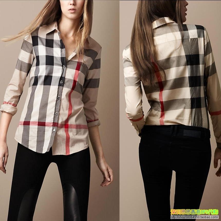 женская рубашка BURBERRY 37766261  DFS, купить в интернет магазине ... d60c3225a25