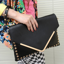 Han edition 2015 new hot style restoring ancient ways the envelope bag hand bag inclined shoulder bag package joker South Korea female bag