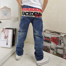 Special offer a clearance luffy, many children with autumn school wear jeans Male leisure trousers