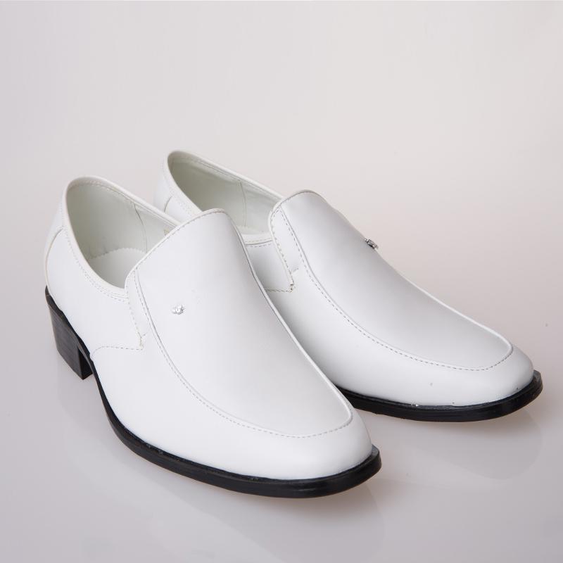 相爱99白色男鞋演出皮鞋大合唱服装比赛时尚舞台歌手主持人礼服鞋