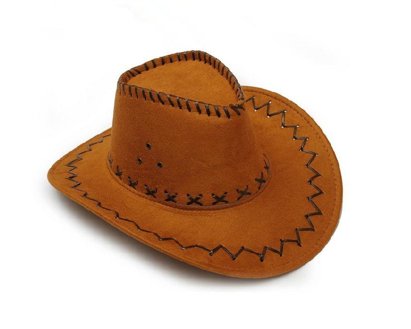 美国西部牛仔帽子女夏天男士遮阳亲子帽舞台演出帽儿童牛仔帽潮
