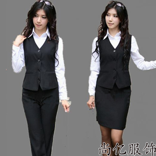 Korean women s vocational career suits vest skirt suit 2014 new autumn ladies dress overalls