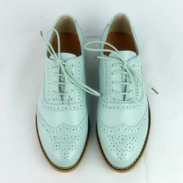 Leather British style retro brogue Brock carved oxford shoe academy Style Mens and womens custom handmade shoes