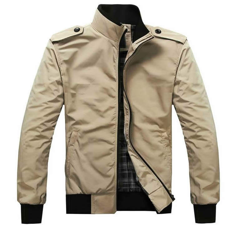 天天特价时尚薄款男士新款夹克男装秋款韩版纯色修身立领夹克外套