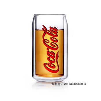 VATIRI可口可乐杯/进口品牌可口可乐双层杯/可耐高热高温玻璃杯