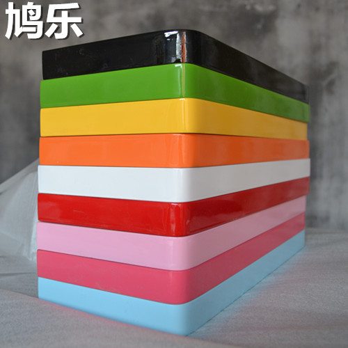 鳩樂 圓角一字隔板烤漆亮光擱板置物架壁掛架機頂盒書架2.5厘米厚