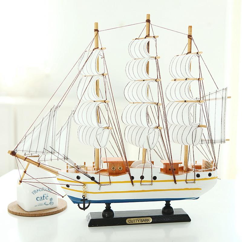 地中海一帆风顺帆船模型摆件玄关酒柜装饰品卧室摆设房间个性家居