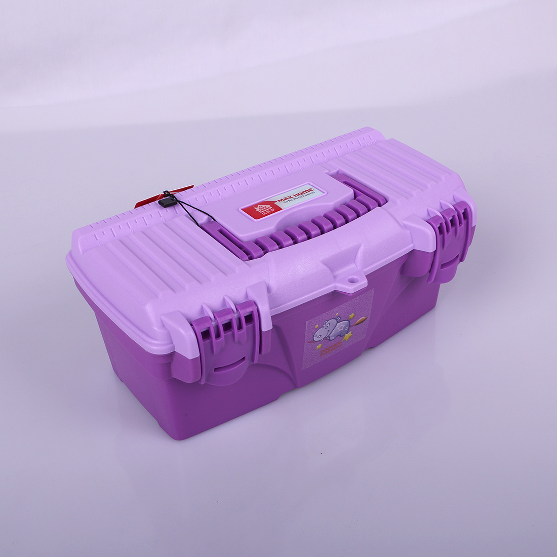 優美家兒童美術繪畫工具箱學生學習文具收納箱收納盒整理用具13寸