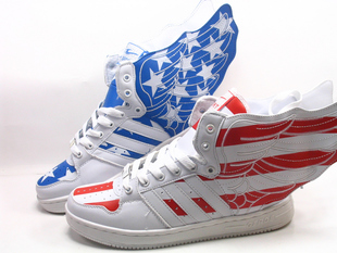 Korean wave of high top sports shoes Luhan students with paragraph flag wings shoes dance shoes shoes men s shoes