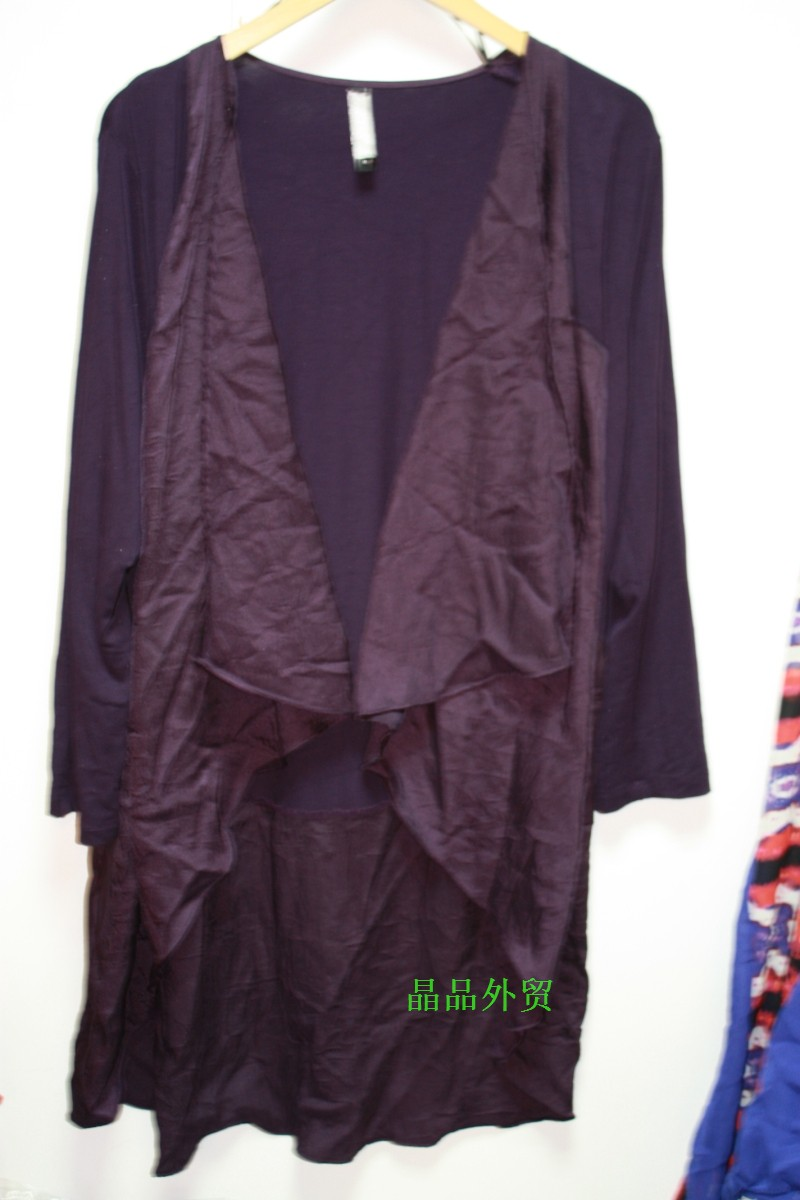 *晶品大码*---双拼面料披肩外搭 澳大利亚TS品牌高档女装