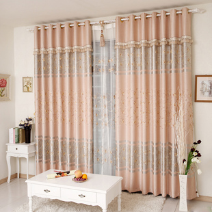 Xinchang homes upscale living room curtains bedroom curtains shade cloth embroidered sequin embroidery Continental thickened Specials