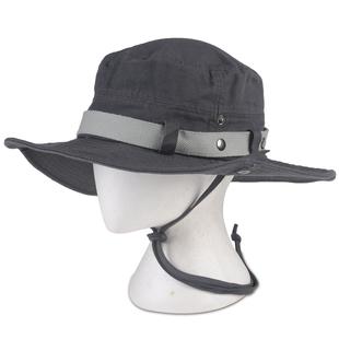 秋季户外防嗮遮阳帽子  韩版登山男女渔夫帽 水洗钓鱼帽 100%全棉