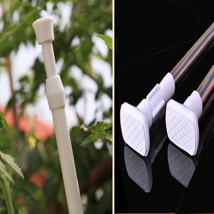 不锈钢窗帘杆 白色烤漆伸缩杆 免打孔 门帘杆子 免安装杆 浴帘杆