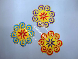Clothing accessories handmade DIY material Chinese wind ethnic characteristics embroidered cloth stickers embroideries circle No 1157