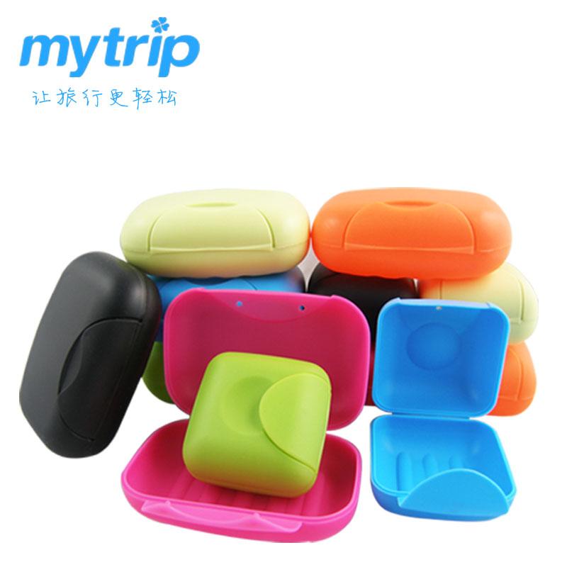旅游时尚便携式肥皂盒旅行香皂盒子创意带盖塑料密封防水防漏方形