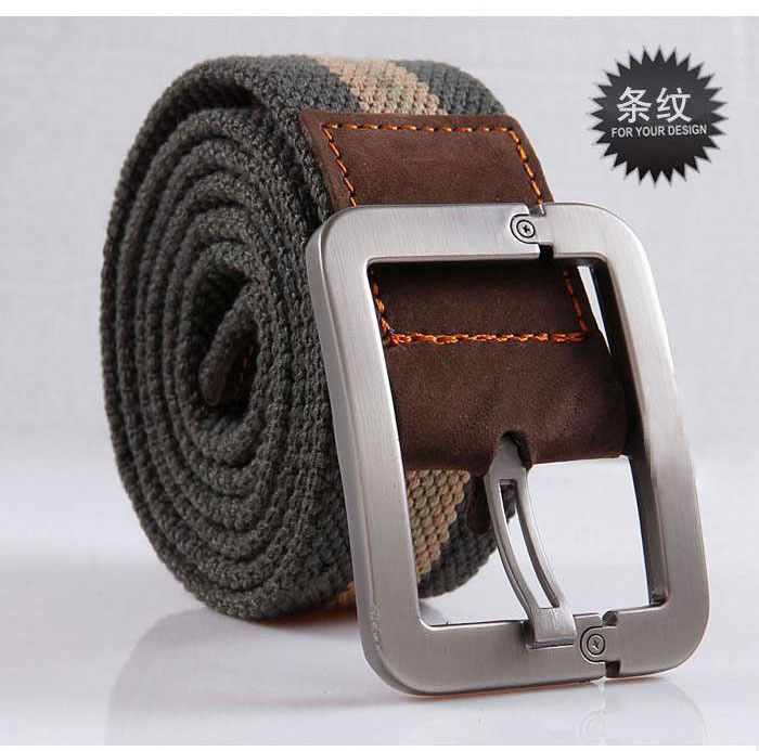 Extra long pin buckle canvas belt mens young student knitting fat Jeans Belt casual versatile big size