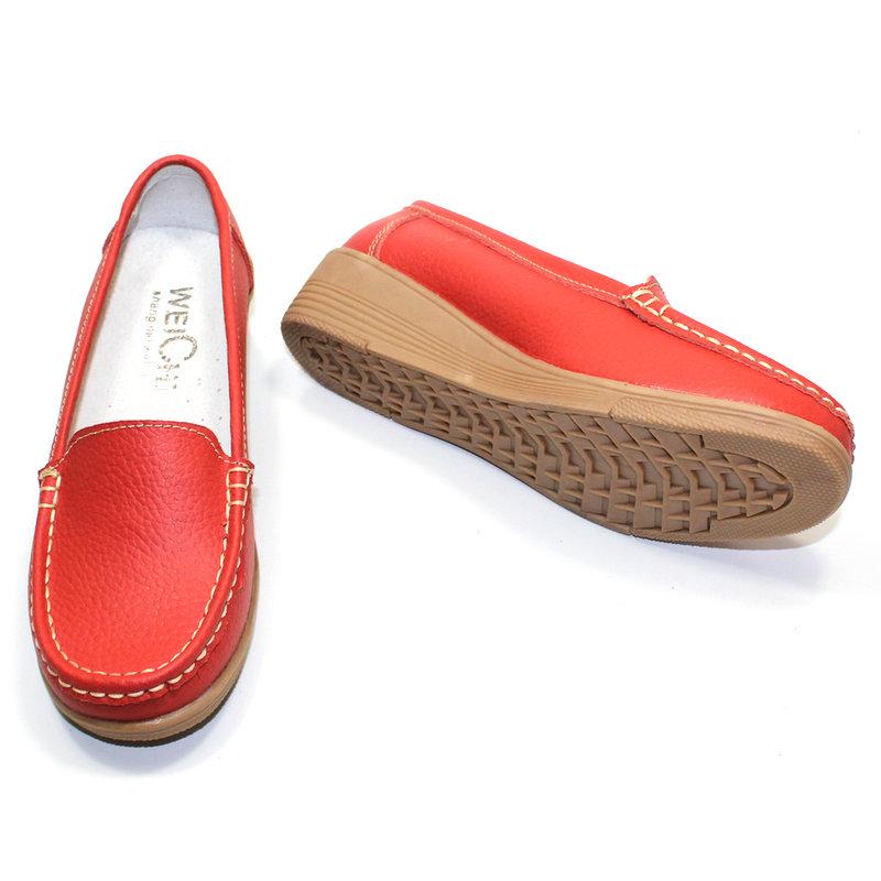 2015 весна новая кожа сухожильных обувь коренастый пятки женщин в конце склона с матерью среднего и пожилого возраста в обуви с медсестрой