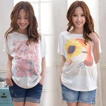 优多多 孕妇装夏装韩版时尚孕妇T恤 中长款宽松大码短袖孕妇上衣图片