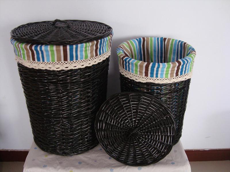 小資の審美柳編洗濯かごの汚い服のおもちゃの収納かごの家庭の整理箱の蓋が付いています。