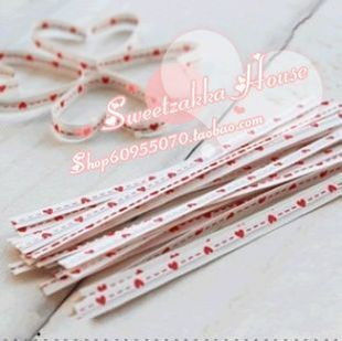 South Korean exports pushing Order Valentine s Day gift of love peach pastry bag sealing wire ligation 3 colors optional