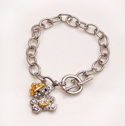 Package mail smiling Korea bear Crystal rhinestone alloy bracelet hand chain Korean jewelry women