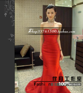 Wedding toast clothing Slim new bride wedding dress red evening dress bridesmaid dress spring long section 20858