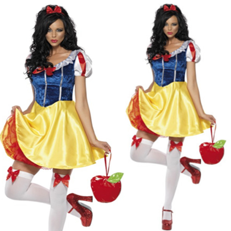 Halloween Disney Snow White Dress Cosplay role play princess dress night club DS performance Costume
