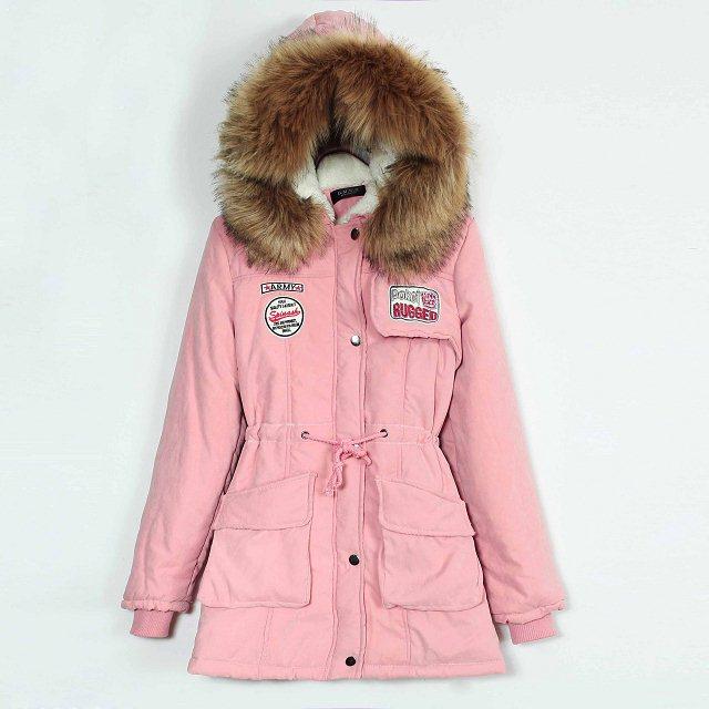 Корейская версия новой зимы 2015 с капюшоном проложенный талии Съемный меховой воротник инструмент большого размера кашемира пальто хлопка
