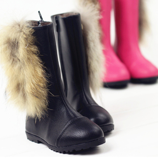 2015 children shoes boots really wild rabbit Korean velvet warm snow boots boots boots tide 227