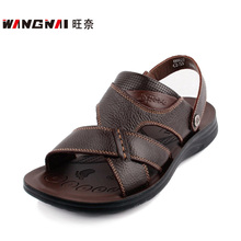 8632d5e84c8 In the summer of 2014 the new Dad sandals Leather soft bottom big yards  men s shoes