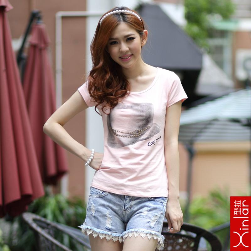 2016 夏裝短袖t恤女裝大碼修身顯瘦半袖體恤打底小衫潮